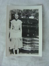 Vintage Car Photo Pretty Girl w/ 1949 Dodge 801