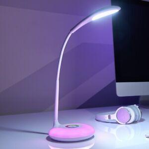 Auraglow Flexi-neck Rechargeable LED Desk Lamp Colour Change Base USB Charger