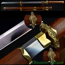 Tang Sword Straight Dao traditional Hand Forged High Carbon Steel sharp #3959