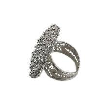 Anello donna argento 925 lavorazione filigrana tipo sarda cerchio 3 cm