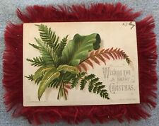 Victorian Red Silk Fringe Christmas, New Year Card, Ornate, Double-sided, Bright