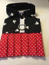 Mickey Mouse Dog Pet Harness Handmade dress Size XL (657)
