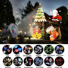 Outdoor LED Christmas Xmas Lights Moving Laser Projector Landscape Party Lamp