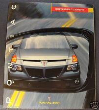 2001 Pontiac Brochure Firebird Bonneville Grand Prix, Am Sunfire Aztek Montana