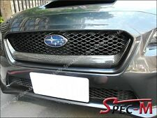 Carbon Fiber SUBARU WRX STI Front Grille Garnish TRIM COVER 2015 2014
