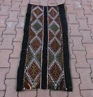 Cappadocia Black Kilim Rug Anatolian Handwoven Embroidered Vintage Carpet 2x4 ft
