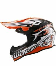 Wulfsport Adult Sceptre Advance Orange Motocross off Road ATV Quad Helmet Small