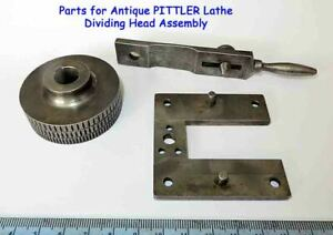 Rare Antique PITTLER Lathe Parts for Dividing Head Old Tool