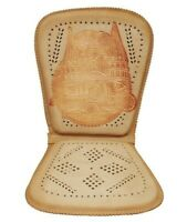 Genuine Mexican Respaldo Leather Car/Truck Seat Cushion Cathedral Cowhide