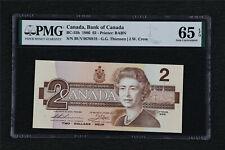 1986 Canada Bank of Canada BC-55b 2 Dollars PMG 65 EPQ Gem UNC
