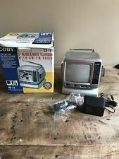 "Coby CX-TV1 5"" Analog CRT Television B&W Am/fm Radio Tested"