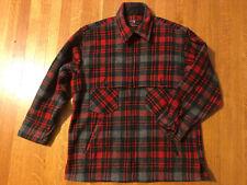 Vintage Johnson Woolen Mills Hunting Jacket Coat Wool Plaid Red Green Men's