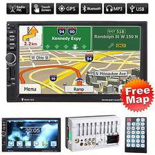"GPS 7"" HD Touch 2 DIN Car Stereo MP5 Player Bluetooth Radio FM/USB/DVR/AUX +Map"