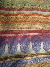 New ListingEcho Queen Sofia Duvet 100% Cotton Boho Colorful Euc Reversible