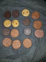 Vintage LOT OF 15 COOKIE  refrigerator magnets sandwich style chocolate chip