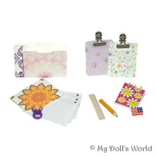 Desk Supplies Set - Mini School Accessories For 18 Inch Doll - Fit American Girl