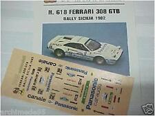 DECALS 1/43 FERRARI 308 RALLY TARGA FLORIO 1982