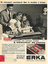PUBLICITE ADVERTISING 014   1959   ERKA  machine à tricoter