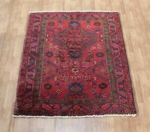 Traditional Vintage Wool Handmade Classic Oriental Areas Rug Carpet 142 X120 cm