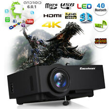LCD/LED Projektor 3D 4K Full HD 1080P Heimkino Beamer Wifi Android 6.0 Bluetooth