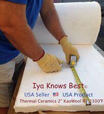 "2"" Ceramic Fiber Insulation Blanket 2300F Kaowool RT 8# Thermal Ceramics 36""x24"""