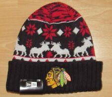 Chicago Blackhawks New Era Mooser Cuffed Winter Knit Hat Cap size Men's