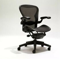 Herman Miller Size B Aeron Chairs Fully Loaded, Adjustable w/ Lumber