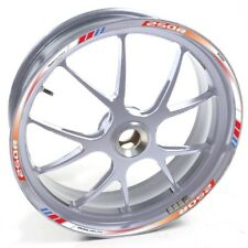 ESES Pegatina llanta Honda plata CBR 250 R 250R 250-R Blanco rojo y azul adhesiv