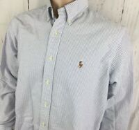 Ralph Lauren Shirt Classic Fit Long Sleeve Oxford Pony Button Front Striped 16