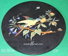 Table Top Rare Marvelous Parrot Bird Pietra Dura Corner Coffee  Antique