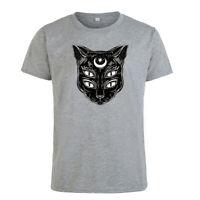 Four Eyes Cat Prints T-shirt Short Sleeve Casual Men's Women's Summer Tops Tee
