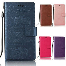Elephant Wallet Leather Flip Case Cover For iPhone 5 5S 5SE 6 6S 7 Plus 8 Plus X