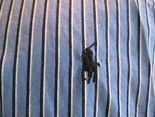 Ralph Lauren Polo Classic Fit Blue Stripe Button Front Shirt 16 34-35 Mens
