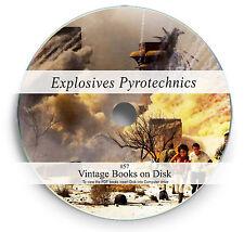 Rare Books on DVD - Explosives Fireworks Pyrotechnics History TNT Gun Powder 57