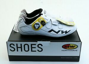 Northwave Flash 2 Carbon Cycling Shoes Size 45 12US White/Black SLW2 NEW in Box