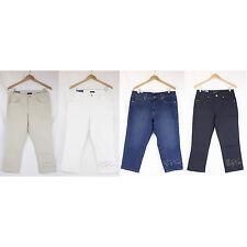 NWT Bandolino Jeans Women Knit to Fit Stretch Denim TATYANA the slim Capri Pants