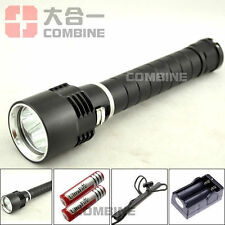 8000Lm Diver Scuba 3x CREE XM-L T6 LED 100m Waterproof Flashlight Torch 18650
