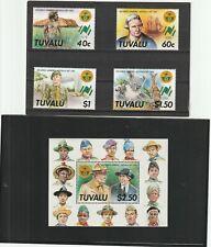 Tuvalu 1988 World Scout Jamboree Set + Mini Sheet MNH