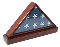 Wall Mounted Burial Flag Frame Whitewashed HBCY Creations Rustic Flag Case Flag Shadow Box to Display Folded Flag Solid Wood Military Flag Display Case for 9.5 x 5 American Veteran Burial Flag
