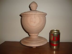 WOOD FINIAL UNFINISHED FOR NEWEL POST FINIAL OR CAP  Finial #37