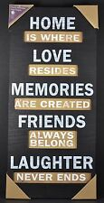 Wall Plaque Home Decor Housewarming LOVE MEMORIES FRIENDS LAUGH