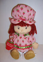 """Licensed """"Vintage"""" STRAWBERRY SHORTCAKE 15"""" PLUSH Character DOLL TOY NEW!!"""