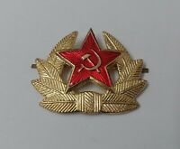 Genuine Russian USSR Soviet CCCP Red Army Metal Officer Cap Badge - NEW