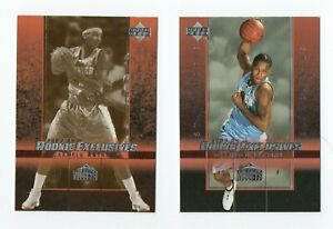 03-04 U.D. Rookie Exclusives Card #3 Carmelo Anthony with variant lot