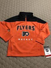 Philadelphia Flyers Kids 1/4 Zip Pullover Jacket Medium 5/6 Nwt