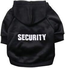 Security Dog Pet Hoodie Sweatshirt Novelty Clothes Black Xs S L