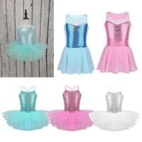 Baby Girls Sequin Ballet Tutu Dress Kids Dance Leotard  Gymnastics Fancy Costume