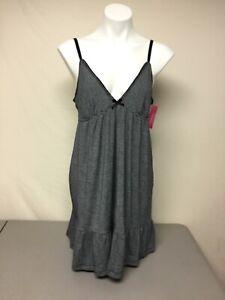 NWT Women's Jrs. Xhilaration Sleepwear Gown Size L Ebony Black & White #1330L