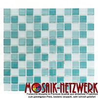 Glasmosaik mix hellgrün/grün Fliesenspiegel Küche Wand Art: 72-0602 | 10 Matten