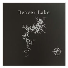 Beaver Lake Map Wall Art Office Decor Gift Engraved Arkansas